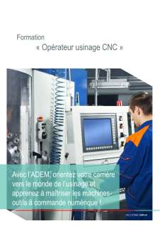 "Flyer ""Operateur usinage CNC"""